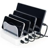 Maxxter Настольное зарядное устройство с 4 портами USB, 20 Вт