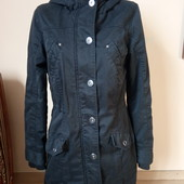 Чорна куртка парка під джинс, 10% знижка на УП
