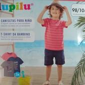 Комплект 3 шт футболки на мальчика Lupilu Германия размер 98/104