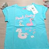 Польша!!! Суперовая футболка для девочки! 128 рост! 429 грн по ценнику! Цвет светлее!