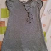 Фирменное красивое платье с балеро на девочку. Состояние идеальное 2-4 г.