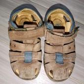 Кожаные сандали 26размер 16стелька