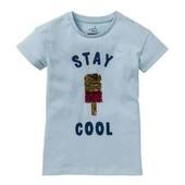 ✔ Хлопковая футболка с пайетками р.146/152 Pepperts Германия✔