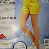 esmara катоновые стрейчевые шорты с отворотом евро 36+6