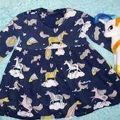 Красивое фирменное платьице с поняшками,на малышку 1,5-2 годика