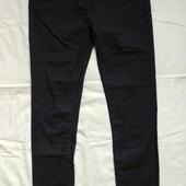 Плотные джинсы скини насыщенного черного цвета,10р(m)