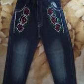 Шикарные стильные джинсы для вашей модняшки.рост110-116.новые.