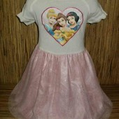 Нарядное праздничное платье Disney на 7-8 лет