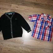 Кардиган и рубашка для мальчика