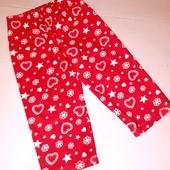 Флисрвые домашние пижамные штаны для девочки 2-3 лет рост 92-98