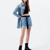 Дизайнерская джинсовая рванная куртка Ci Sono размер М+подарок!)