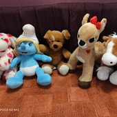 Build a bear workshop! Мягкие красивые игрушки! Смурфетта, лошадка и Олень Кларисса, 2 собачки