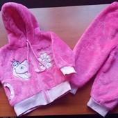 Новый костюм + шапочка для девочки (1-3мес.)