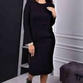Женское вязаное платье р 44-48