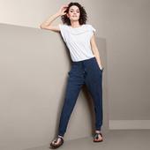 Комфортные брюки из джерси с принтом из вискозы от tchibo(германия) размер 40/42 евро=46/48 наш