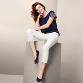 Классические джинсы с вышивкой длиной 7/8 от Tchibo (Германия), р.44евро/50 наш