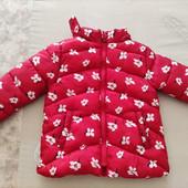 Курточка Zara(Зара) красная весна синтепон на 2-3 года