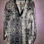 Лёгкая воздушнаясвободная блузка туника от ZARA