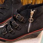 текстильные ботинки-туфли фирмы Duffy, 39 размер, длина стельки 25 см