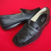 Туфли мокасины Hotter натур кожа 40-41 размер