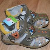 Полностью кожаные босоножки сандали Calorie Калория 21р.