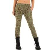Женские джинсы бойфренды помятые в армейском стиле mozzaar (европа) хаки, XL