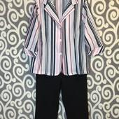 Комплект, модная рубашка-пиджачок с брючками для пышненьких девушек .