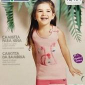 Летняя маечка для девочки lupilu размер 98/104