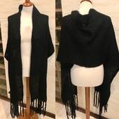 Вязаный объёмный шарф-палантин! Тепло, стильно! Состояние +++!