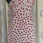 платье с сердечками - креп шифон