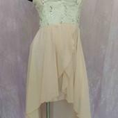 платье со шлейфом кружево +шифон