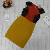 Красивое комбинированное платье s.oliver размер 36