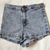 Джинсовые стрейчевые шорты от Topshop,xxs/xs