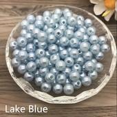 Бусинки жемчужные светло голубые 6мм. лот 30шт.