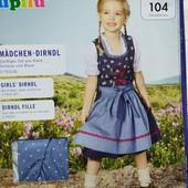 ПП204.Костюм народный, баварский платье 110, lupilu, германия