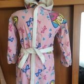 Халат мягусенький махровый, 100% коттон, р. 8 лет 128 см, Barbie