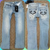 Мужские светлые рваные джинсы Р.30