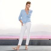 Стильные белые джинсы с вышивкой от Tchibo (Германия), размер 38евро