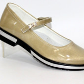 Бежево-золотистые нарядные туфли Tom.m для девочки р.36