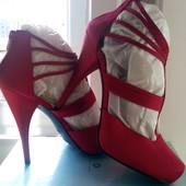 """Нові фірменні ( елітний сток ) туфлі """"New look"""" із атласу роз.39."""