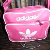 Качественная розовая сумка Adidas, повседневная, небольшая