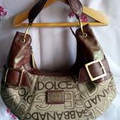 Бренд Dolce & Gabbana сумочка натур.шкіра+ плотний текстиль.