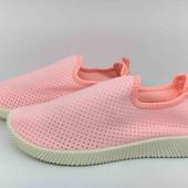 Мягкие удобные женские мокасины, текстильные кроссовки, тапочки 36-41р. (маломерят) 22,3см-25,5см