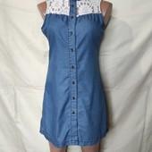 Платье из тонкого джинса с кружевом от Denim Co,s/m