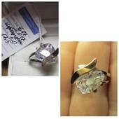 Распродажа!Шикарные кольца серебро 925пр.+ золото 375 пр. Новое с биркой!