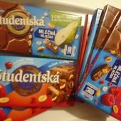 Шоколад Studentska Чехия 180г. Вкусы на выбор. Читаем описание