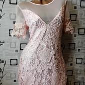 Новое платье. Дорогой ажур-стоечка на подкладке