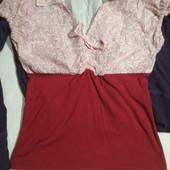 Комбинированная блузка. Идеальное состояние
