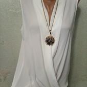 Шикарная новая нарядная нежная блуза р.12 Акция читайте
