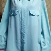 Собираем лоты!! Рубашка - блуза мятного цвета, размер 48/50